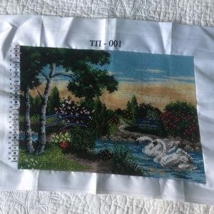 """Other - Bead Embroidered """"Nature"""" picture, Handmade"""